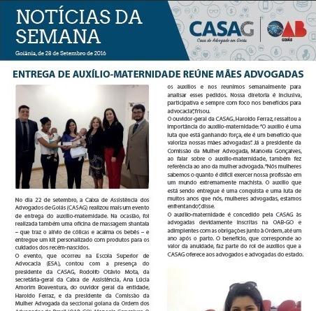 Informativo - Casag - 28-09-2016