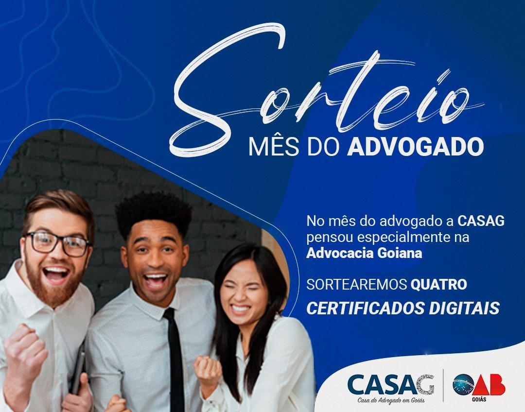 CASAG e Certdata vão sortear quatro certificados digitais